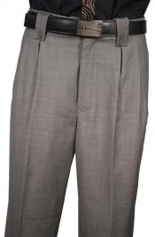 Classic Fit Pleated Front Gray classy patterns Sharkskin Wool Wide Leg Dress Slacks  Mens Wide Leg