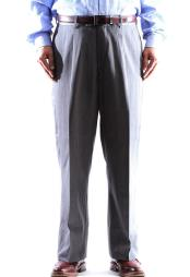 Size & Big and Tall Dress Pants 100% Wool Gray Pleated
