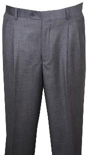 Rise Big Leg Slacks Dress Pants Light Gray Wool Wide Leg