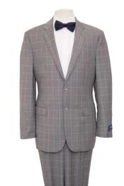 Mens Windowpane Plaid Blazer Gray Jacket houndstooth checkered Pattern Texture Wool Suit