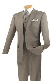 Mens 3 Piece Wool Feel Classic