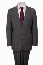 Mens Houndstooth Pattern Texture Wool Blazer Windowpane Plaid Checkered Jacket Gray Suit