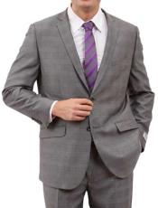 Mens Windowpane Plaid Houndstooth Jacket Suit Gray Checkered Pattern Texture Wool Blazer