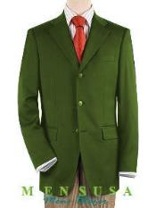 Green 3 ~ Three buttons Front Jacket Four On Sleeves Fully