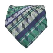 Green / Blue Glen Classic Necktie with Matching Handkerchief - Tie