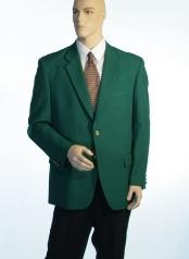 Green Antique Brass Crest Buttons Cheap Unique Dress Blazer For Men