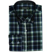Green Long Sleeve Plaids And Checks Pattern Mens Dress Shirt