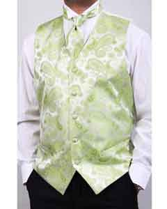 Mens lime mint Four-Piece Vest Set Also available in Big and Tall Sizes