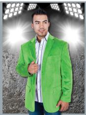 Velvet ~ Velour lime mint Green ~ Apple ~ Neon Bright Green Mint Lime Sport Jacket Blazer