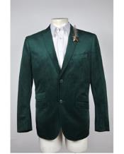 Mens Green Blazer Velvet Blazer Mens 2 Button Velvet Hunter ~ Olive