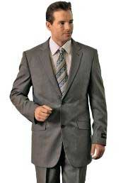 Mens Grey Classic Pinstripe ~ Stripe Pattern affordable Cheap Priced Business