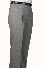 houndstooth checkered pattern Check Parker Pleated Pants Lined Trousers unhemmed unfinished