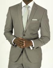 Pick Stitched 2 Button Grey Slim Fit Skinny Suit