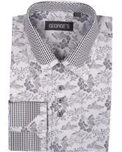 Collar Style Club Shirts Grey Pattern George