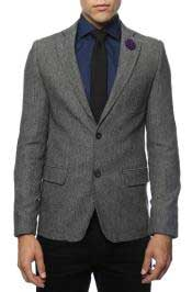 Mens Slim Fit Tweed~houndstooth