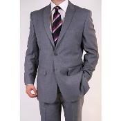 Grey Two-button Peak Lapel Suit