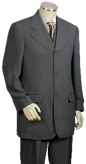 Stylish 3 Piece Vested Zoot Suit Grey