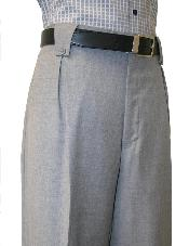 Mens Grey Wide Leg Pants unhemmed