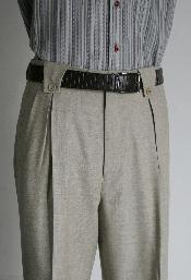 Leonardo Velenti Brand Mens Wide Leg Grey Pants unhemmed unfinished bottom