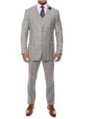 Grey 3 Piece Vested