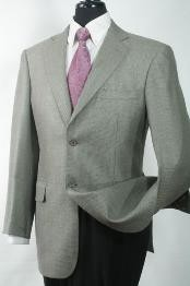 Luxurious Wool and Silk Cheap Unique Dress Blazer Jacket For Men Sale Grey Shark Skin