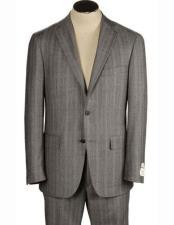 Grey Herringbone Bradley Fit 100% Wool Alberto Nardoni Suits