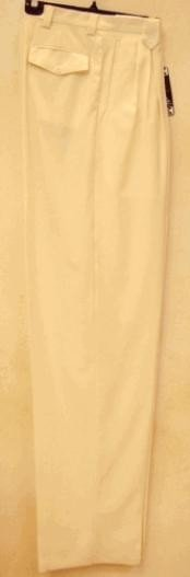 rise big leg slacks  Ivory wide leg dress pants Pleated