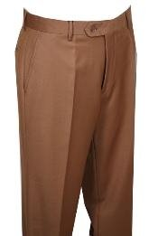 Dress Pants Camel ~ Khaki ~ Tan without pleat flat front