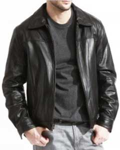 Modern James Dean  Full Grain Lambskin Black & Brown Available in Big and Tall Bomber Jacket