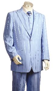 Fashionable 3 Piece Vested Lavander Zoot Suit