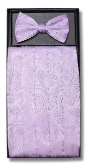 Design Polyester Lavender Bowtie