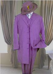 Purple stripe suit