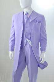 Mens Lavender 3 Piece Reverse Vest Zoot Cheap Priced Business Suits Clearance