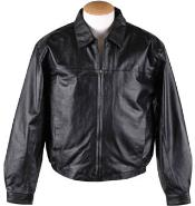 Mens Zip-Out Liner Leather JD Bomber Jacket Black