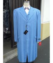 Fashion Light Sky Baby Blue ~ Baby Blue Zoot Suit Maxi 45 inch Suit