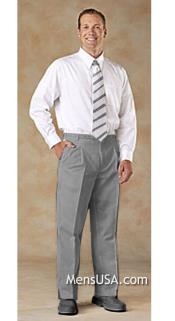 Pleated Pants / Slacks Plus White Shirt & Matching Tie Light