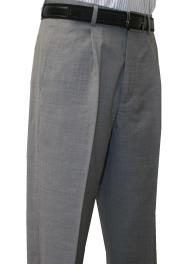 Fit Pleated Front 1 Pleated Pant 100% Wool 1/4 Top Pocket+2 Back Pockets w/Lining Light Grey unhemmed
