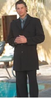 Mens Long Black Fashion