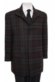 Online Discount Fashion Sale/ Mens 33 Inch Long Plaid Pattern Four