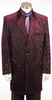 Long Zoot Suit Burgundy