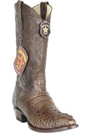 Mens Brown Toe Genuine Caiman Hornback Brown Boots