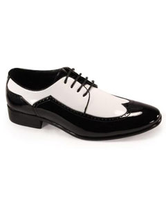 mens black and white dress shoes