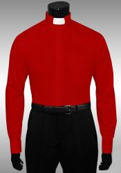 Best Cheap Designer Sale Red Clergy Tab Collar French Cuff Preacher