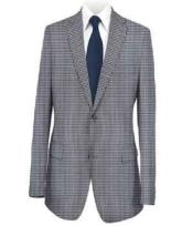 Mens Sport Coat Medium Blue Checked