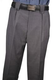 Classic Fit Pleated Front Medium Gray Wool Wide Leg Dress Slacks  Mens Wide Leg Trousers