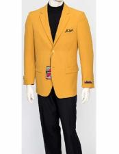 Mens  Classic Fit Mustard Gold
