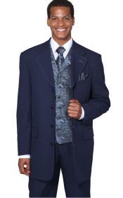 Navy Fancy Vest 3