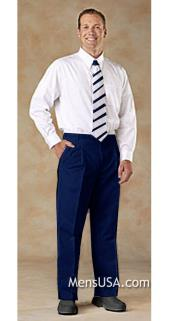 Pleated Pants / Slacks Plus White Shirt & Matching Tie Navy