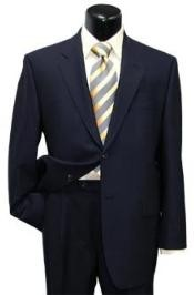 quality construction Two Button Dark Navy Blue Suit For Men Super