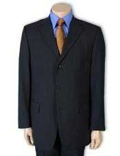 Mens Dark Navy Blue Suit For Men 100% Pure wool feel poly~rayon